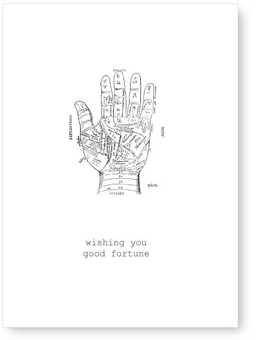 Karte Wishing you good fortune